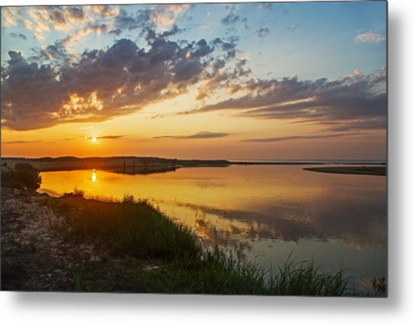 Sunset Over The Sucker River Metal Print