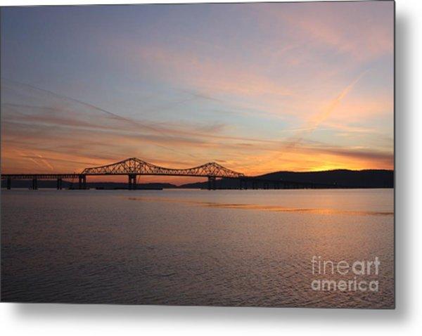Sunset Over The Tappan Zee Bridge Metal Print