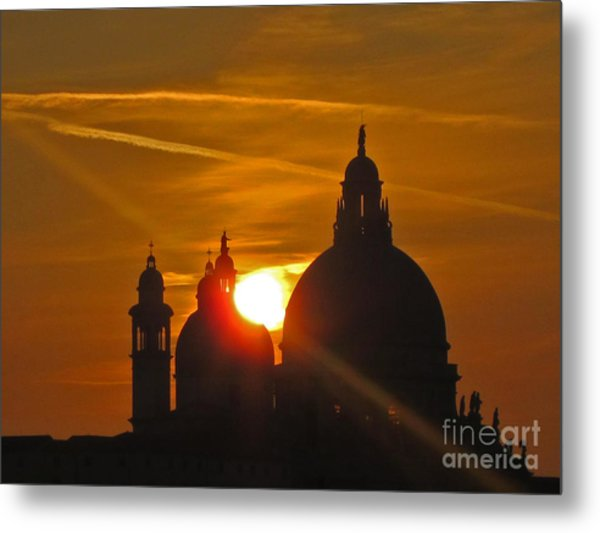 Sunset Over Venice Metal Print