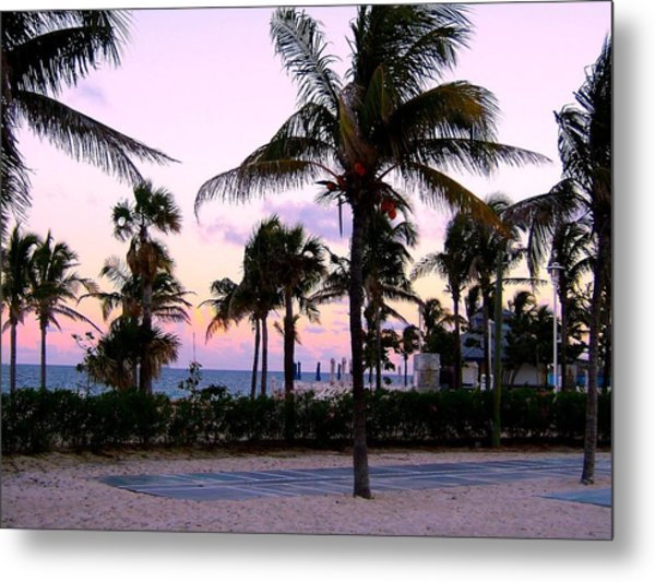 Sunset Over Waikiki Metal Print