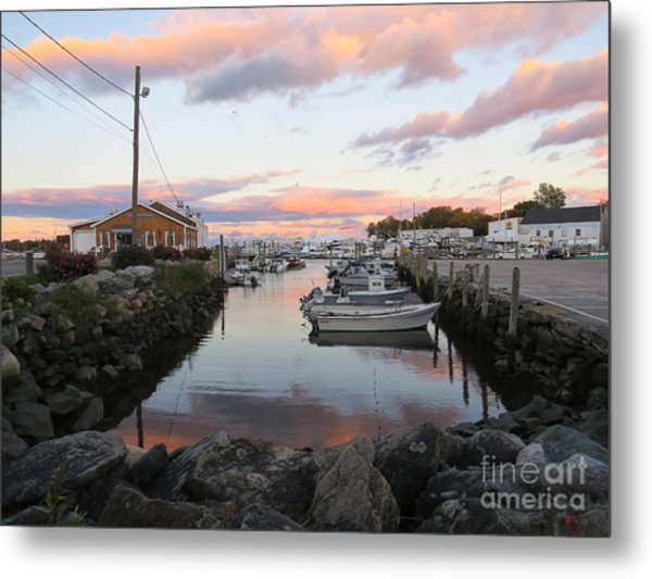 Sunset Over Wickford Metal Print