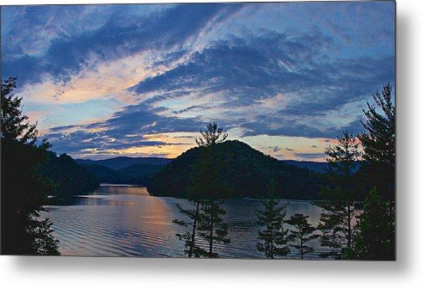 Sunset Pano - Watauga Lake Metal Print