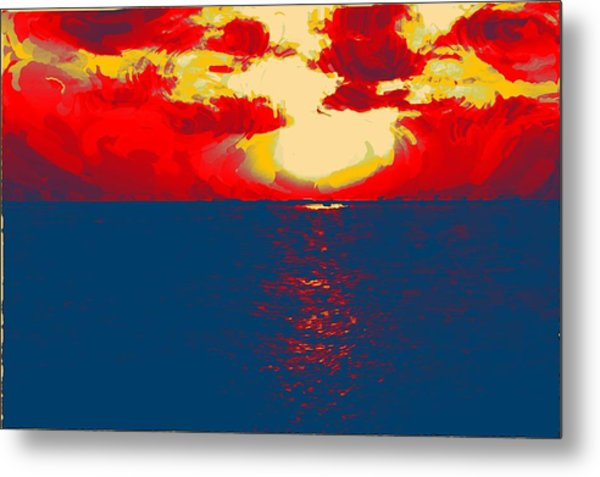 Sunset Paradise Metal Print by Peter Waters