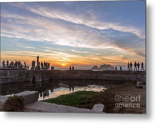 Metal Print featuring the photograph Sunset Party by Kate Brown