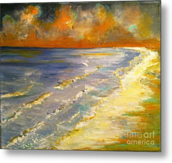 Sunset Passion At Cranes Beach Metal Print
