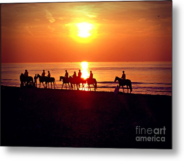 Sunset Past Time Metal Print