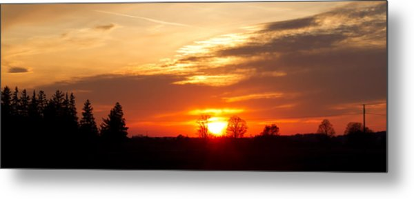 Sunset  Metal Print by Paulina Szajek