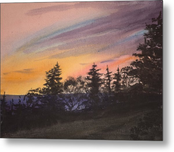 Sunset Metal Print by Peggy Poppe