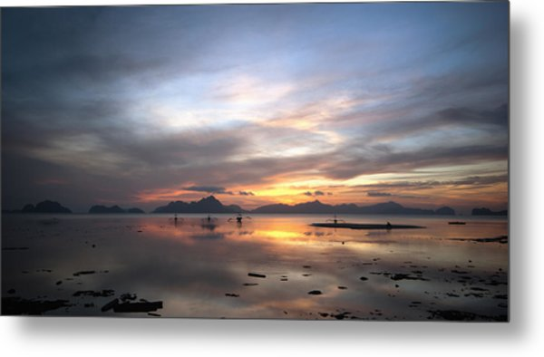 Sunset Philippines Metal Print