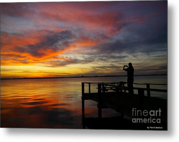 Sunset Photographer Metal Print