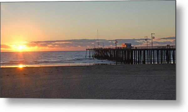 Sunset Pismo Beach Pier Metal Print