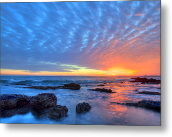 Sunset Reflections Newport Beach Metal Print