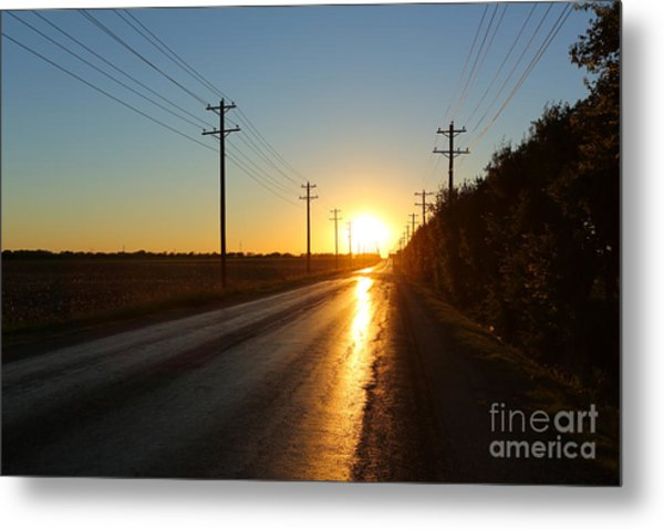 Sunset Road Metal Print