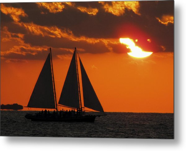Key West Sunset Sail 3 Metal Print
