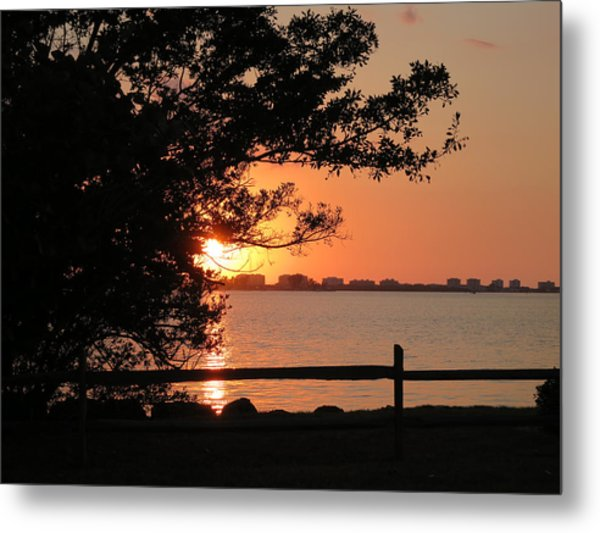 Sunset On Sarasota Harbor Metal Print