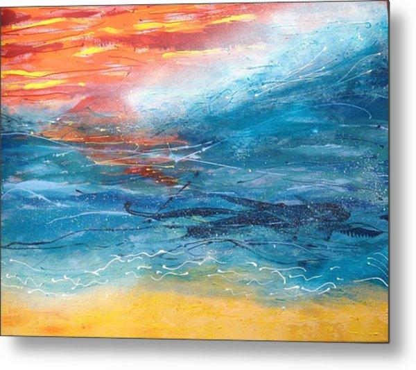 Sunset Seascape Metal Print