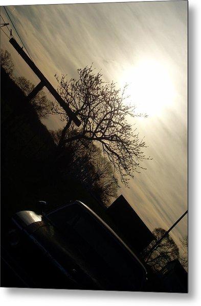 Sunset Silhouette Metal Print by Kiara Reynolds