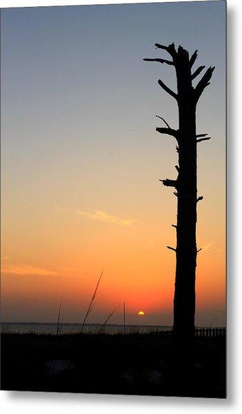 Sunset Silhouette Metal Print by Saya Studios