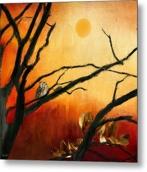 Sunset Sitting Metal Print