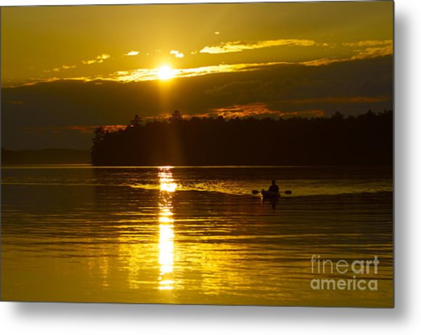 Sunset Solitude II Metal Print