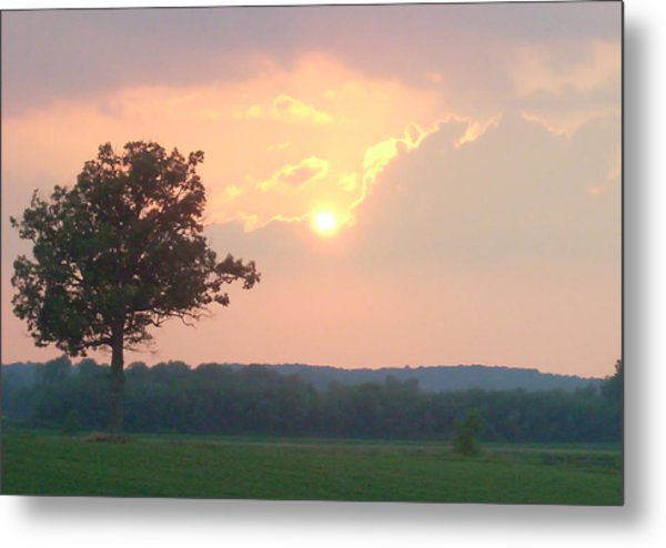 Sunset Sorbet Metal Print
