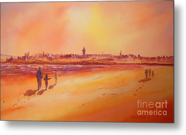 Sunset St Andrews Scotland Metal Print