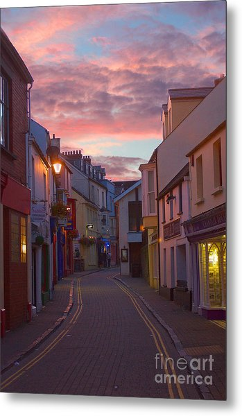 Sunset Street Metal Print