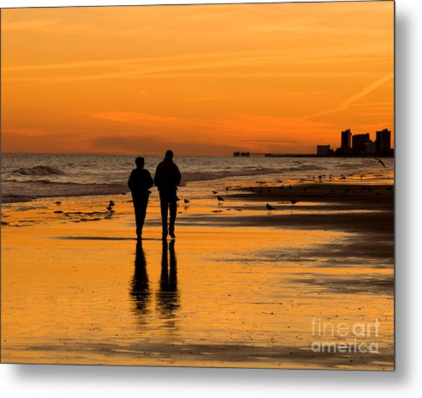 Sunset Stroll Metal Print