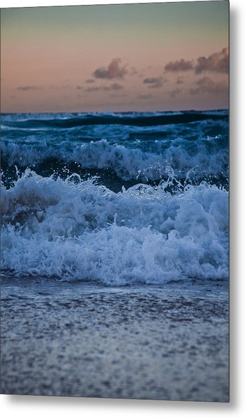 Sunset Surf Metal Print