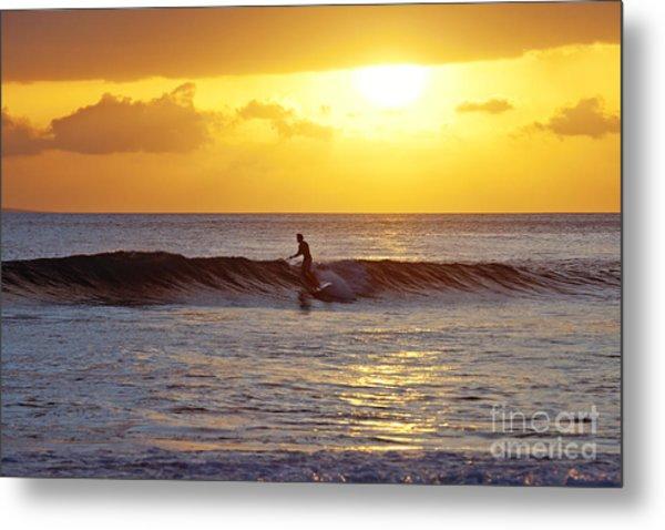 Sunset Surf Maui Metal Print