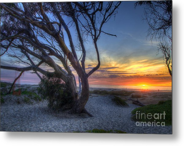 Sunset Swing Metal Print
