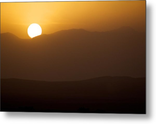 Sunset The Ruby Mountains Wells Nevada Metal Print