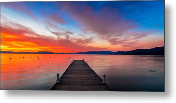 Sunset Walkway Metal Print