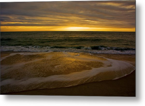 Sunset Waves Metal Print by Kathi Isserman