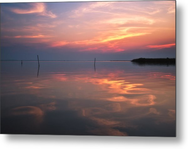 Sunset Whalehead Club Metal Print