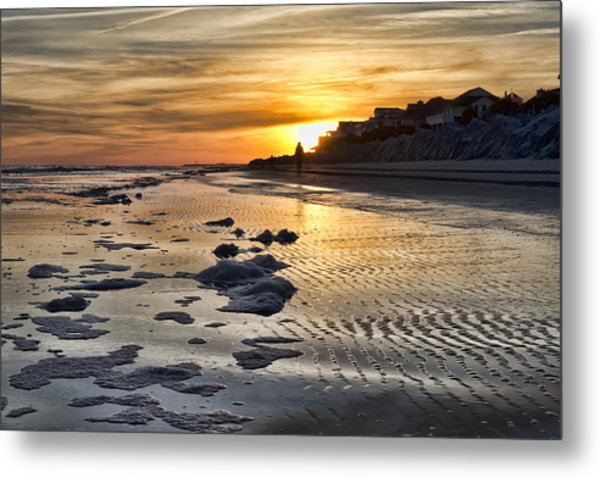 Sunset Wild Dunes Beach South Carolina Metal Print