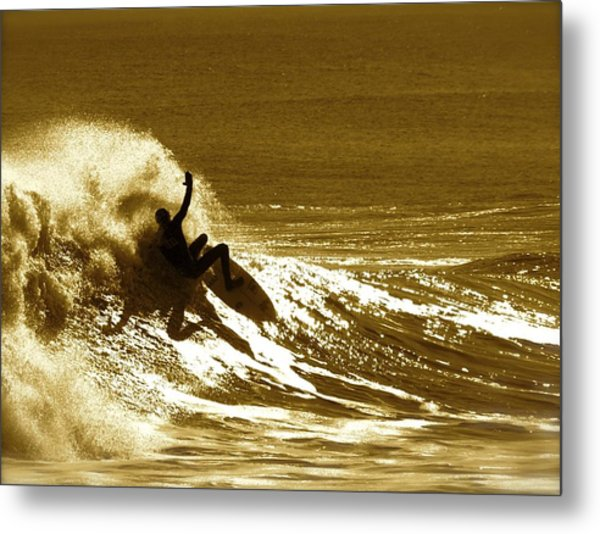 Sunset Wipeout Metal Print