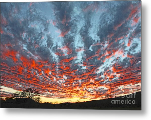 Sunset Colorado Country Style Metal Print