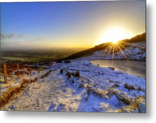 Sunshine And Snow Metal Print
