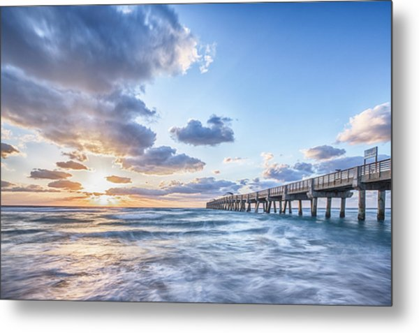 Sunshine At The Pier Metal Print