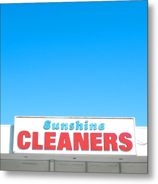 Sunshine Cleaners Metal Print