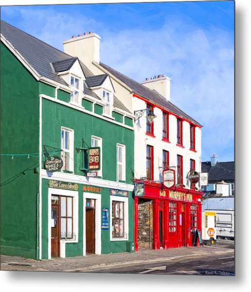 Sunshine On The Pubs In Dingle Ireland Metal Print
