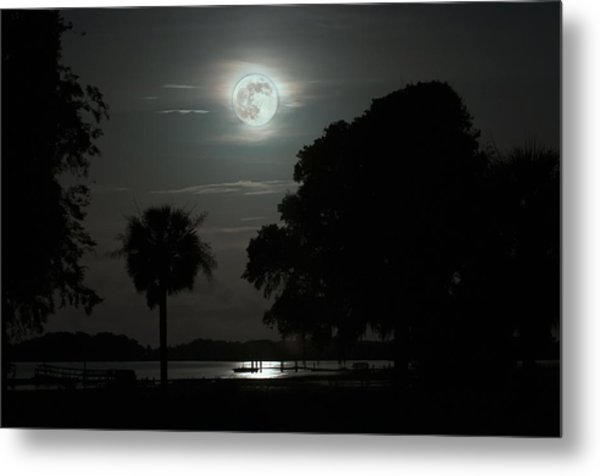 Super Moon Over Wimbee Creek Metal Print