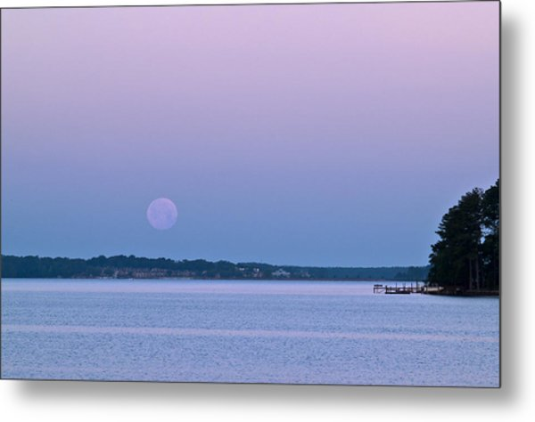 Super Moon Setting-1 Metal Print