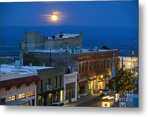 Super Moonrise Over Jerome Arizona Metal Print