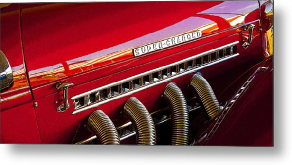 Supercharged Candy Apple Metal Print