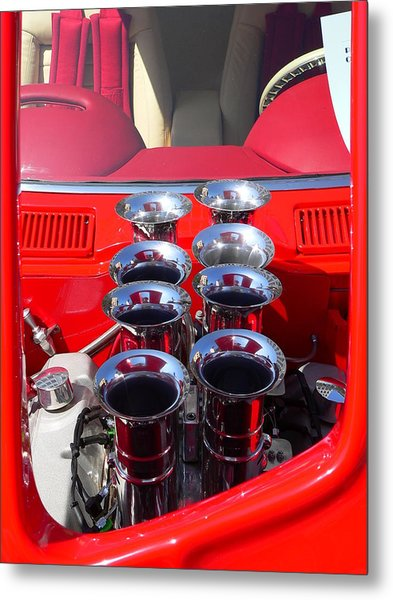 Metal Print featuring the photograph Supercharged Engine by Jeff Lowe