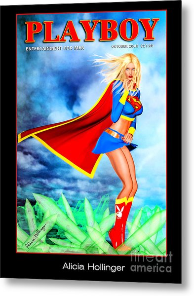 Supergirl 2085 Metal Print by Alicia Hollinger