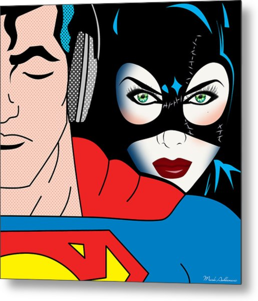 Superman And Catwoman  Metal Print