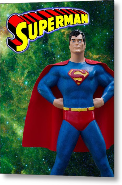 Superman Poster Redux Metal Print by William Patrick